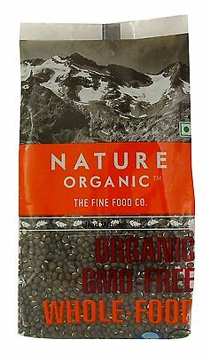 Nature Organic Urad Whole Beans (Black Gram Whole) 17.64 Ounce - USDA Certified