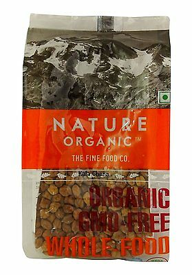 Nature Organic Bengal Gram Whole/ Black Chick Peas 17.64 Ounce - USDA Certified