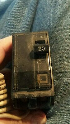 Square D 20 Amp 2 Pole Switched Switch Neutral Circuit Breaker 120 Volt