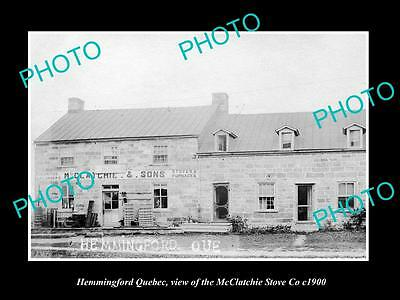 OLD HISTORIC PHOTO OF CANADA, HEMMINGFORD QUEBEC, THE McCLATCHIE STOVE Co c1900