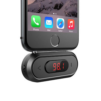 3.5mm FM Transmitter Hands-free Calling Wireless Radio Car Kit for iphone 5 6 6s