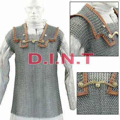 Lorica Hamata Roman Knight Medieval 16g Steel Chainmail Armor Extra Large g1a1