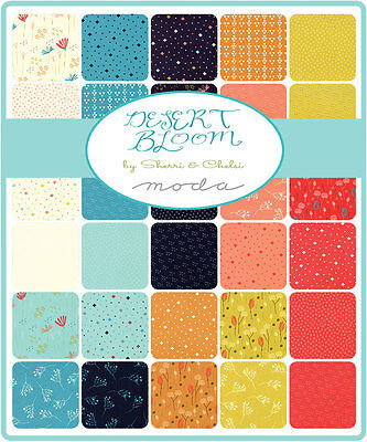 Patchwork/quilting Fabric Moda Charm Squares/packs - Desert Blooms