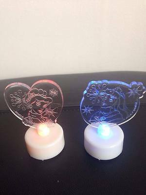 Disney Princess LED Colour Changing Tealights Set of Two Brand New