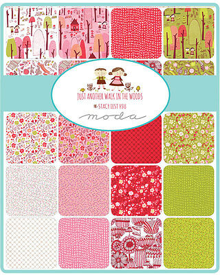 Patchwork/quilting Fabric Charm Squares/pack - Just Anothr Walk In The Park
