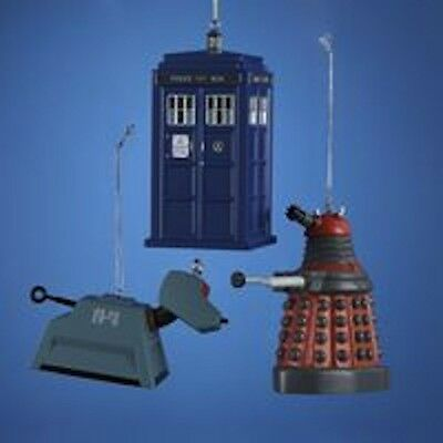 "Doctor Who - 4.5"" Blow Mold Xmas Ornament - Tardis Dalek K-9 for Christmas Tree"