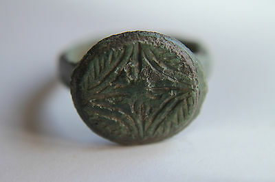 GOOD QUALITY ANCIENT ROMAN BRONZE FINGER RING 2/3rd  Century AD
