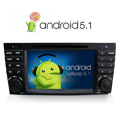 Android 5.1 DVD GPS sat nav for Mercedes Benz C Class CLK CLC W203 AMG DAB+ WIFI