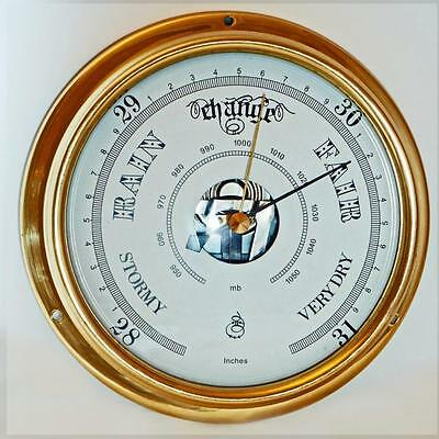 Brass Or Chrome Barometer  Quality Product.