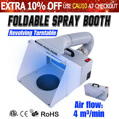 Foldable Airbrush Spray Booth Hose Filter Extractor Air Brush Art Paint Craft AU