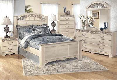 Ashley Catalina B196 King Size Poster Bedroom Set 6pcs Traditional Style
