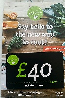 Voucher for £40 Off Hello fresh foods