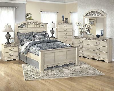 Ashley Catalina B196 Queen Size Poster Bedroom Set 6pcs Traditional Style
