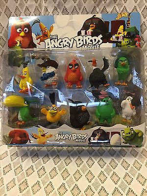 10 Pcs Angry Birds Action Figure Set Toy Collection