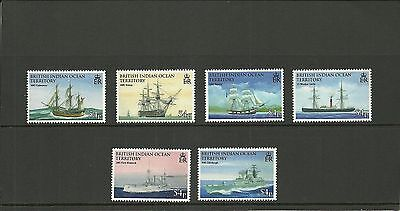 British Indian Ocean Territory Sg396-401 Seafearing And Exploration  Set Mnh