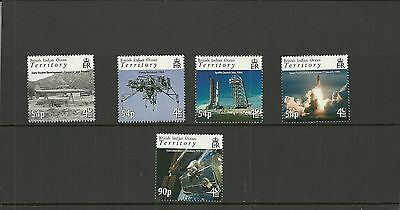 British Indian Ocean Territory Sg408-412 40Th Anniv First Moon Landing  Set Mnh