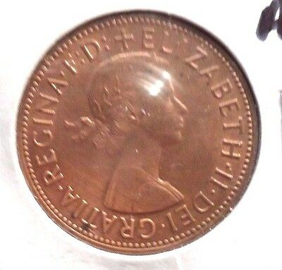 Circulated, Au In Grade, 1962 Large Penny Uk Coin! (22615)
