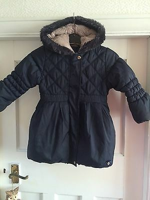 Girls Navy Junior J Jasper Conran Coat, Age 3-4 Years