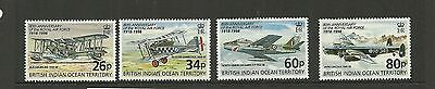 British Indian Ocean Territory Sg215-218 80Th Anniversary Of Raf Set  Mnh