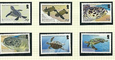 British Indian Ocean Territory Sg312-317 Turtles   Set Mnh