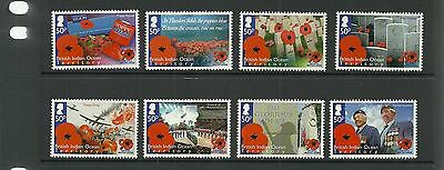 British Indian Ocean Territory Sg464-471 90Th Anniv Royal British Legion Set Mnh