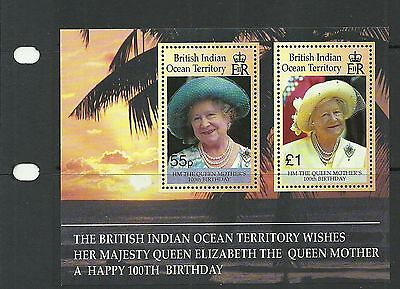 British Indian Ocean Territory Sgms242  Queen Mother Birthday  M/s Mnh