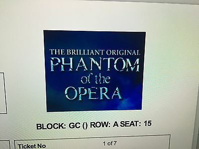 4 Tickets Phantom of The Opera London,Sat April 08,7.30 pm,Her Majesty´s Theatre