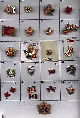 22xTourist CANADA enamel badges-nice varied examples-good condition