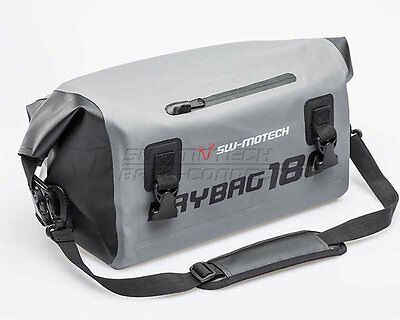 Tail bag motorcycle Drybag 180 500D Tarpaulin. Waterproof. Grey Black. 18 l.