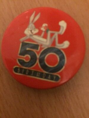 Warner Brothers: Bugs Bunny 50th Anniversary Badge