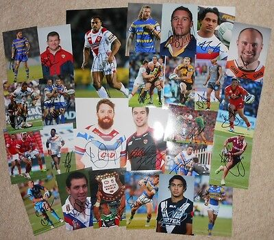 Rugby League Signed Photos x 25. Joblot. Powell,Sims,Watkins,Sculthorpe,NRL etc