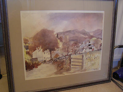 """Tony Lees Limited Edition Signed Framed Print """"Hawkshead"""" *REDUCED PRICE*"""