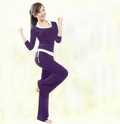 1 Set Women Home Exercise Yoga Clothes Dancing Sports Costume Three-piece Suits