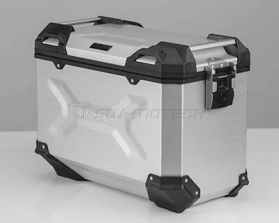 Saddlebags Motorcycle Adventure TRAX ALU-BOX L 45 l. Right. Silver.