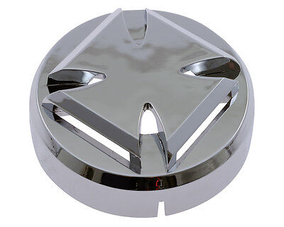 Horn / Horn 88mm 12V COVER GOTHIC chrome motorcycle universal