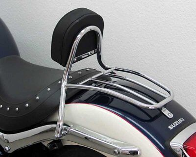 Sissy Bar with pad and carrier drivers, Suzuki C 1800 R 2008-