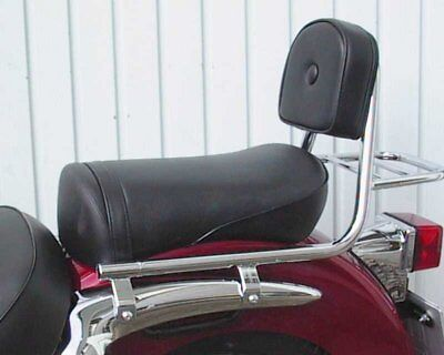 Sissybar from pipe with pad and carrier, Suzuki VL 125 Intruder LC 99-07