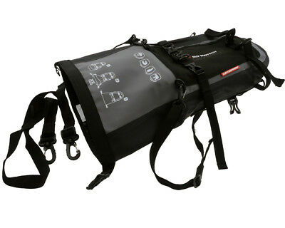 Tail bag motorcycle bag Drybag 80 Tarpaulin. Waterproof. Grey Black. 8 l.