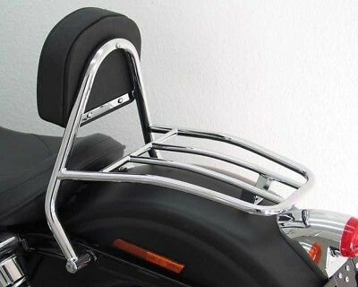 Sissy Bar with pad and carrier driver Harley Davidson Dyna Street Bob 09-