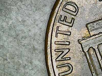"""1988  Double, """"Reverse"""", Lincoln  Cent, EF."""