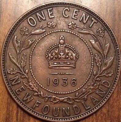1936 Nfld Large Cent In Beautiful Better Grade