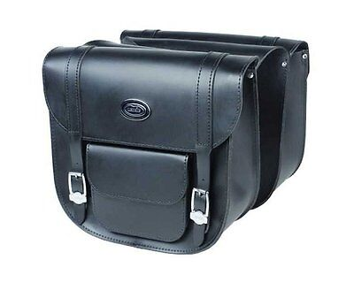 Saddlebag set Ledrie motorcycle leather 14Ltr 34x14.5x31cm (W x D x H) Chopper