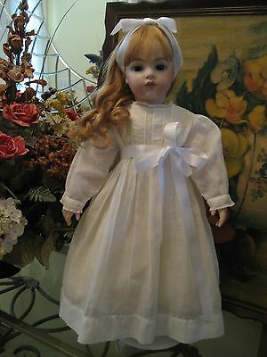 Antique Bru French Bisque Head Doll Composition Body Repro