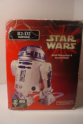 Vintage R2-D2 Droid Figural Telephone in Box STAR WARS