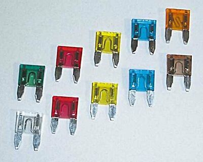 Plug fuse / flat fuse / circuit example. Motorcycle, 25 A, 10-pack