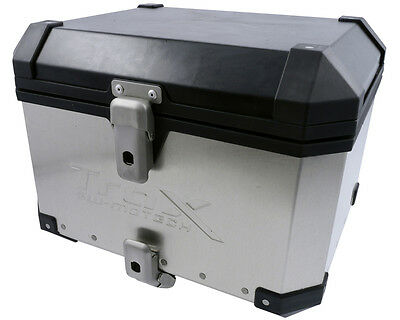Saddlebags Motorcycle TraX 38 aluminum box, top case, silver