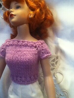 Lavender Knit Sweater & White Capris for Kitty Collier or Miss Seventeen