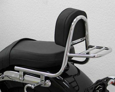 Sissy Bar from pipe with pad and carrier, Triumph America 2007-
