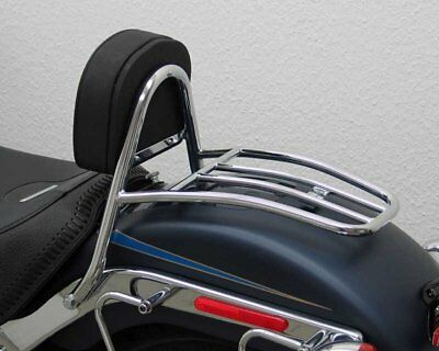 Sissy Bar with pad and carrier driver Harley Davidson Softail FLSTF Bj07