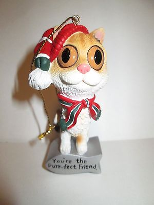 """Cat Christmas Ornament-""""You're The Purr-fect Friend""""-American Greetings -3"""""""